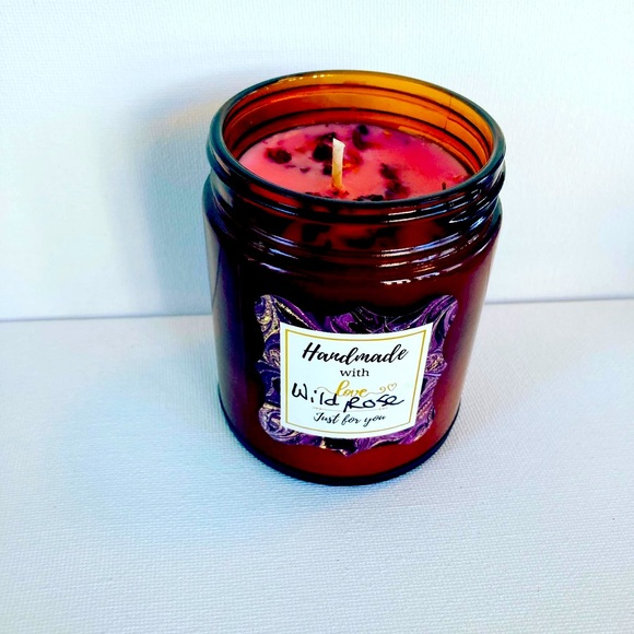 Wild Rose Scented Soy Candle 9oz